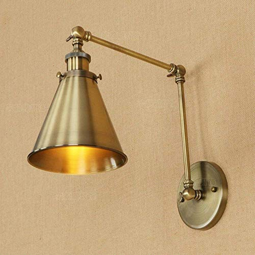 Creatieve instelbare wip schommel metaal dubbele wandlamp restaurant keuken schuur magazijn muur wandkast E27 Edison Amerikaanse land ijzeren enkele kop wandlamp wandlamp wandlamp
