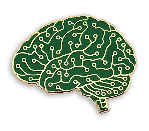 Pinsanity Digital Brain Enamel Lapel Pin