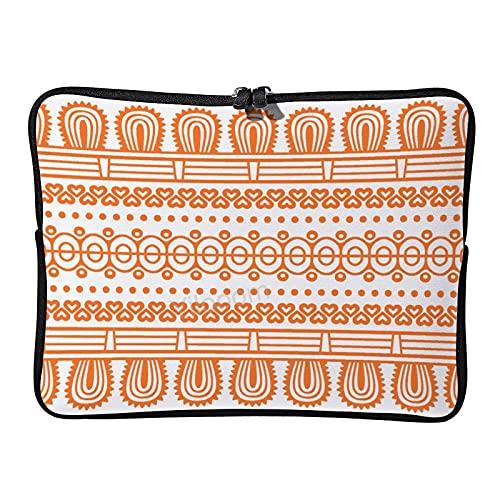 Yilooom Funda para portátil de 10 pulgadas Ultrabook Notebook Funda de neopreno para ordenador portátil de bolsillo de la tableta maletín bolsa cubierta de piel, patrón gráfico naranja