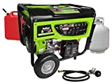 Smarter Tools ST-GP7500DEB, 6500 Running Watts/7500 Starting Watts, Dual Fuel Powered Portable...