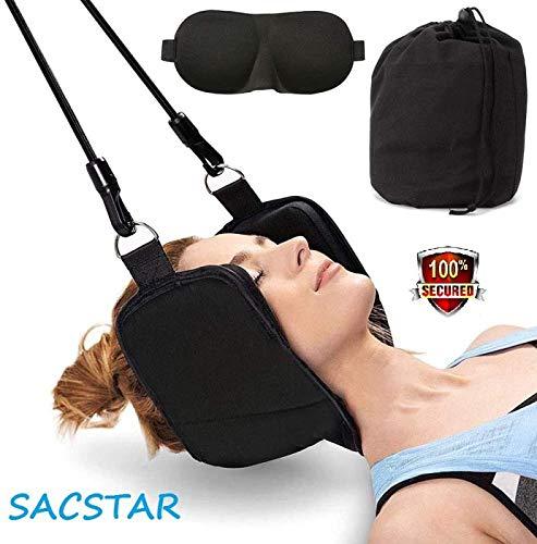 Sacstar - Amaca per alleviare il dolore al collo, alla testa, al collo e al collo, portatile, allevia il dolore alla schiena e alla spalla