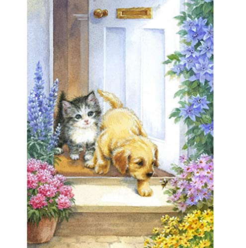 5D Painting DIY Embroidery Animal cat Garden Diamond Cross Stitch Diamond Embroidery Animal Home Decoration