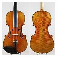 バイオリンセット トップオイルワニス4/4手作りバイオリン自然空気乾燥60年ピュアスプルースプロのバイオリン