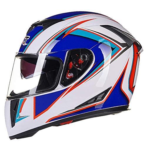 NJ Casco Integraalhelm, opvouwbare helm voor scooters met dubbel vizier voor dames en volwassenen A-M