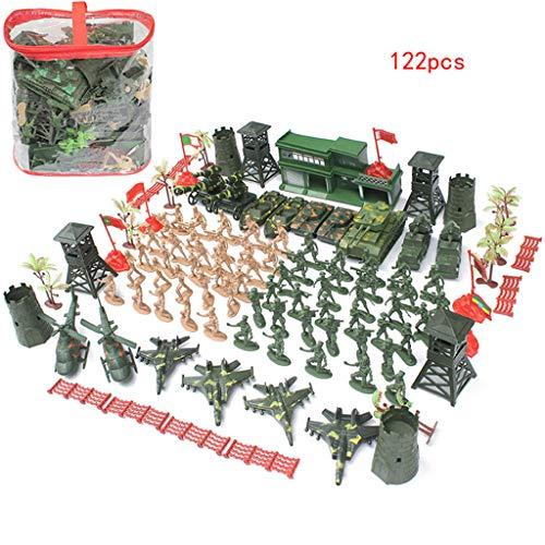 SioHopio Ejército Minifiguras Juguete Armadura Y Armas Armas De Engranaje Militar Accesorios Armas Paquete Modern Combat Asalto Paquete, Personalizado Juguete De Construcción Militar (122 PCS)
