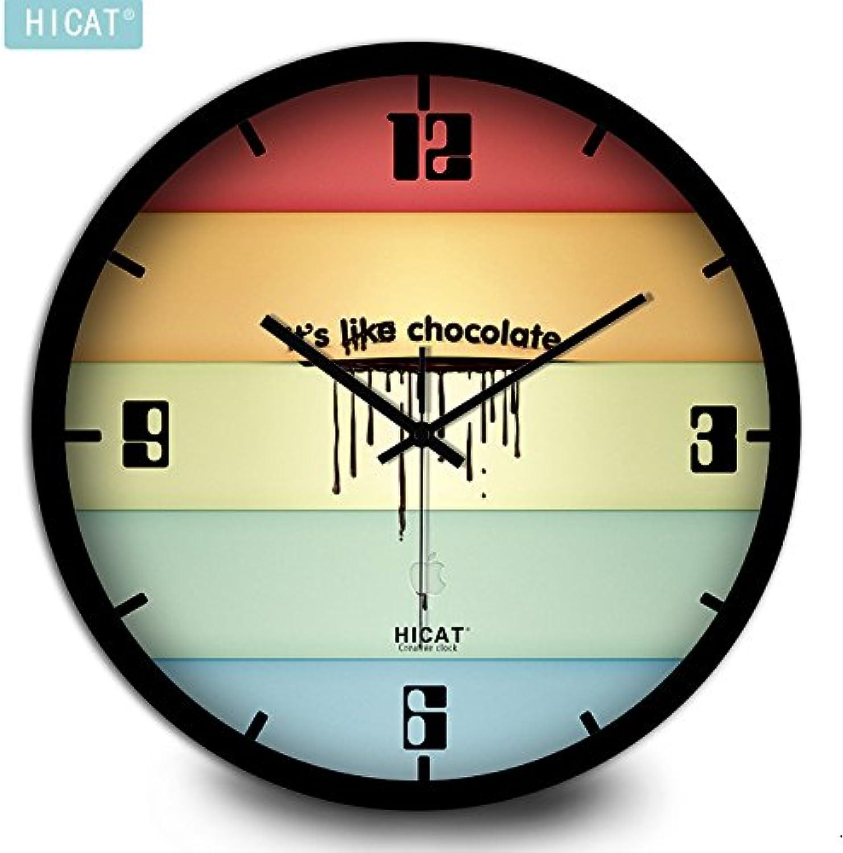 calidad auténtica Komo silencioso Moderno Decoración Adorno para para para Hogar Salón Creativa Relojes Reloj de Parojo Reloj de Parojo Reloj de Silencio,12 Pulgadas,Caja de Dinegro Negro  ventas en linea