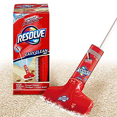 Resolve Easy Clean Pro Carpet Cleaner Gadget & Foam Spray Refill, Clean & Fresh 22 oz Can, Carpet Shampooer System