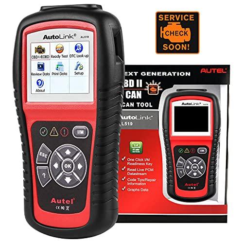 Autel AutoLink AL519 Escáner OBD2, Lector de Código de Motor de Comprobación de Modo Mejorado 6, Lectura y Borrado de Códigos de Falla, Versión Mejorada de AL319