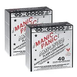 cheap Set for lightening hair Manic Panic Flash Lightning (2 pcs.) 40 Volume Hair Developer Cream…