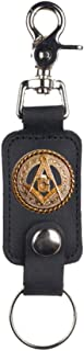 Custom Masonic Square and Compasses Mascorro Leather Valet Key Fob