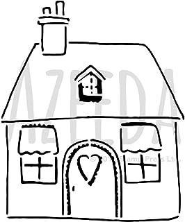 A3 Linda casa de Patchwork Plantilla de Pared / Estarcir (WS00028254)