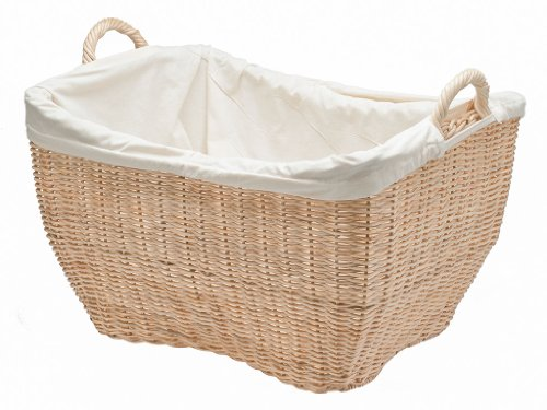small wicker basket with liner - 9