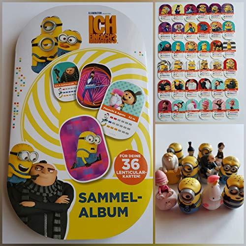 Rewe - Minions - - - Album + Alle 36 Verschiedene Sticker + Alle 12 Verschiedene Figuren - Rundum Alles KOMPLETT