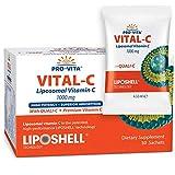 Vitamine C Liposomale 1000mg x 30, Fabriquée en UE, Biodisponibilité la plus élevée, Booster de collagène et du système immunitaire, Meilleure Vitamine C Liposphérique contre le vieillissement cutané