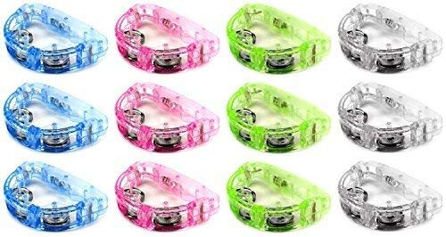 Why Choose AJ Toys & Games AJ000B00U9RJSIO Cool Set of 12 Flashing Light Tambourine Children's Kid's...