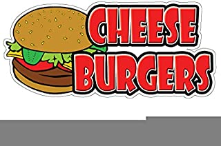 CHEESEBURGERS I Concession Decal trailer cheese burger