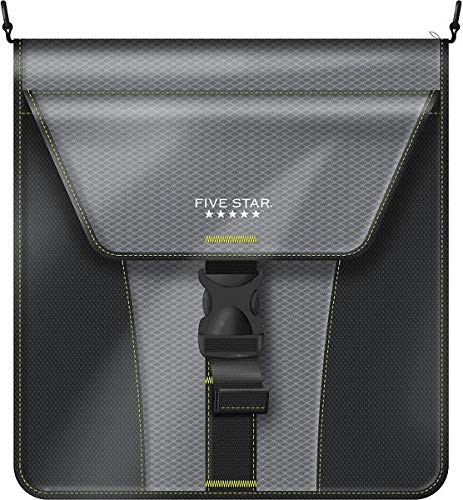 Five Star 2 Inch Zipper Binder, Vertical Flip, Durable, Black/Yellow (29086BB7)