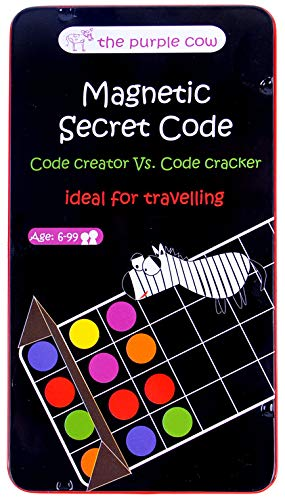 The Purple Cow Magnetic Secret Code Board Game for Kids. Crack The Secret Code. Travel Size - Ideal for Travelling...