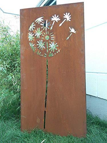 Zen Man Garten Sichtschutz aus Metall Rost Gartenzaun Gartendeko edelrost Sichtschutzwand 031651-1 150 * 75 * 2CM