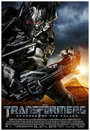 Transformers Revenge of The Fallen Movie Poster 24 x 36 Inches Full Sized Print Unframed Ready for Display