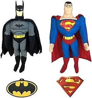 Batman v Superman Plush Set of 2: Batman + Superman Plush Combo