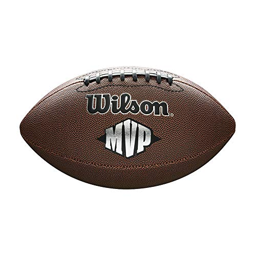 Wilson WTF1411XB Pelota de fútbol Americano NFL MVP Material Compuesto para Juego recreativo, Unisex, Marrón, Talla Única