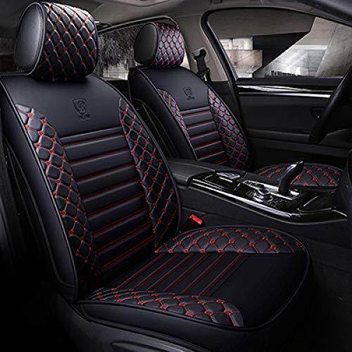 JINRYIGK Funda de Asiento de Coche Universal para Seat Ibiza Leon 2 FR Altea Ateca, Fundas de Accesorios de Coche para Asiento de vehículo, Negro Rojo sin Almohada