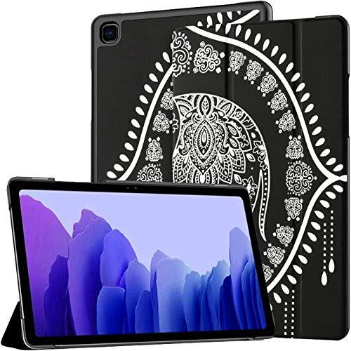 Ornamento Gráfico Elefante Funda para Tableta Galaxy Tab A7 10.4 Pulgadas Samsung Tablets Funda Galaxy Tab A Fundas con Auto Wake/Sleep Fit Funda para Tableta para Galaxy Tab A7 Sm-t500 / t505 / t5