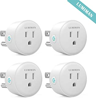 LUMIMAN WiFi Smart Plug Outlet 4 Pack, Compatible with Alexa and Google Home Assistant, work with Apple siri shortcuts, No Hub Required