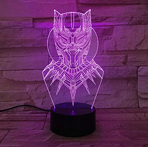 Veilleuse 3D LED Panthère Veilleuse USB Touch Lumineux Lampe de Bureau Enfants Chambre Sommeil Éclairage Worldwide Dropship