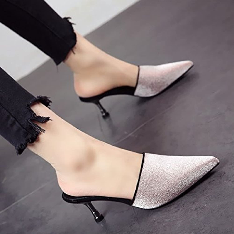 FLYRCX Europische Mode Persnlichkeit schlanken high Heel High Heel top Schuhe Berufsschuhe Damen Sex Party Schuh Sandalen