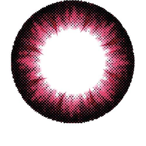 Matlens - Pro Trend Farbige Kontaktlinsen ohne Stärke rot Big eyes Apollo NPX-A08 2 Linsen 1 Kontaktlinsenbehälter 1 Pflegemittel 50ml