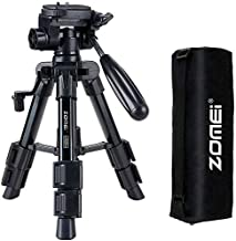 Mini Tripod for Camera,Zomei Travel Table Tripod with 3-Way Pan/Tilt Head 1/4 inches Quick Release Plate and Bag for DSLR ...
