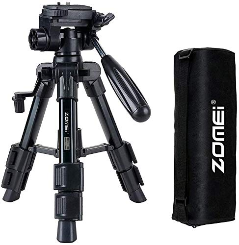 Mini Tripod for Camera,Zomei Travel Table Tripod with 3-Way Pan/Tilt Head 1/4 inches Quick Release Plate and Bag for DSLR Camera Tripod Carrying Bag