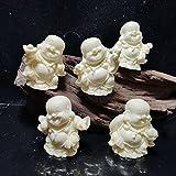KKUUNXU Statua di Buddha Wufu Linmen Home Office Decorazione Artigianato Piccolo Maitreya Maniglia tè Pet Tea