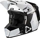 Leatt 3.5 V21.3 Adult Off-Road Motorcycle Helmet - Black/White/Medium