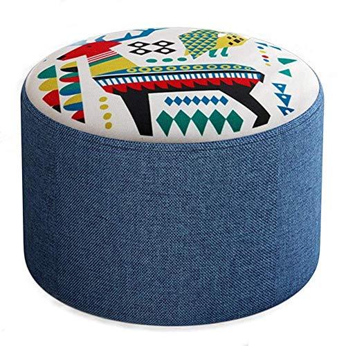 YLCJ kruk, laag, cartoon, kleine zitbank, voetensteun, sofa, huishoudmodus, robuust, hout, 8 kleuren, voetensteun (kleur: D, maat: 20 cm) 20cm H