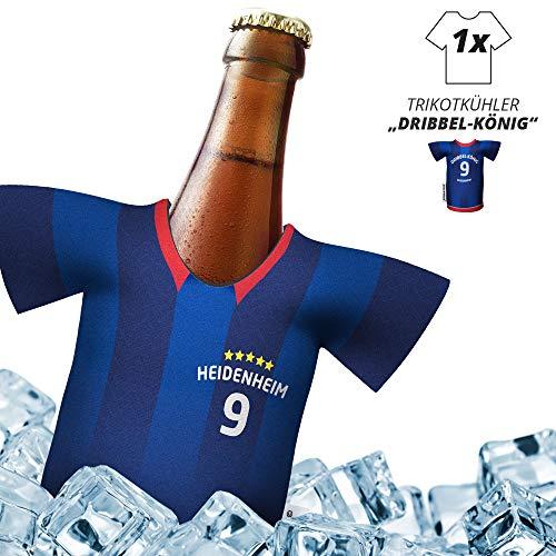 Fan-Trikot-kühler Home für. FC Heidenheim-Fans | DRIBBEL-KÖNIG | 1x Trikot | Fußball Fanartikel Jersey Bierkühler by ligakakao.de