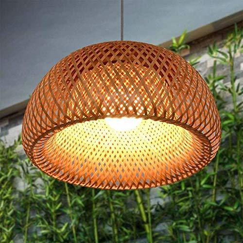 Bambus Gewebter Pendelleuchte Natürlicher Bambus Hängeleuchte Handgewebter E27 Schraubmund Geeignet Für Teestube Restaurant Korridor Beleuchtungssystem Aufhängung Kronleuchter Nachtlicht,30cm