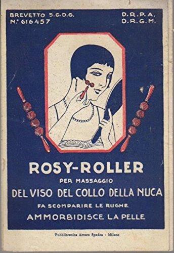 Rosy-Roller per massaggio del viso del collo della nuca: fa scomparire le rughe: ammorbidisce la pelle.
