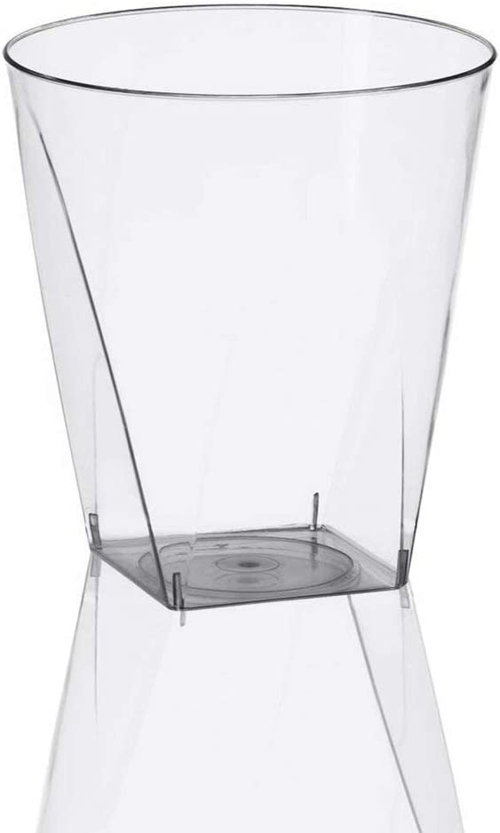 Kaya Plastic Bottom Free Shipping Cheap Bargain Gift Shot Cups - oz. Super beauty product restock quality top 20 Square Clear 2 Pcs.