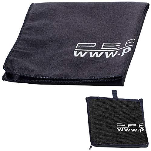 PEARL Sporthandtuch: Extra saugfähiges Mikrofaser-Handtuch, 80 x 40 cm, schwarz (Handtücher Microfaser)
