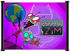 Invader Zim Cartoon Fabric Wall Scroll Poster (21
