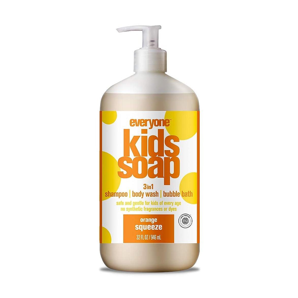 水陸両用抜本的な版海外直送品EO Products Everyone Soap For Kids Orange Squeeze, Orange Squeeze 32 OZ