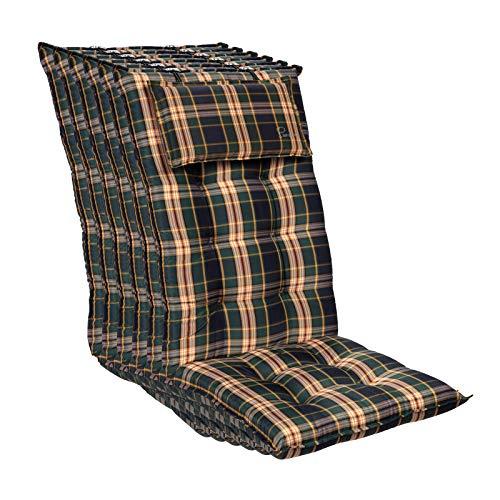 Homeoutfit24 Sun Garden Sylt - Cojín para silla de jardín