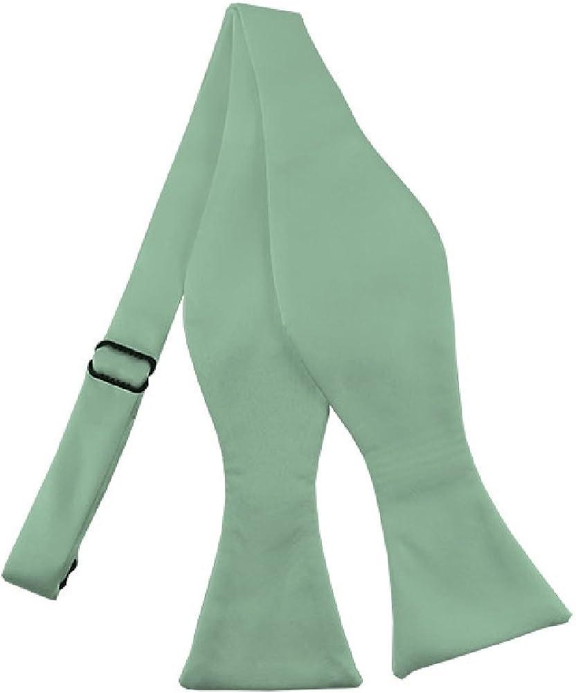 NYFASHION101 Men's Solid Color Adjustable Self-Tie Bow Tie