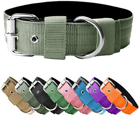 Heavy Duty Tactical Dog Collar 1 5 Width Military Durable Thick Nylon with Adjustable Metal product image
