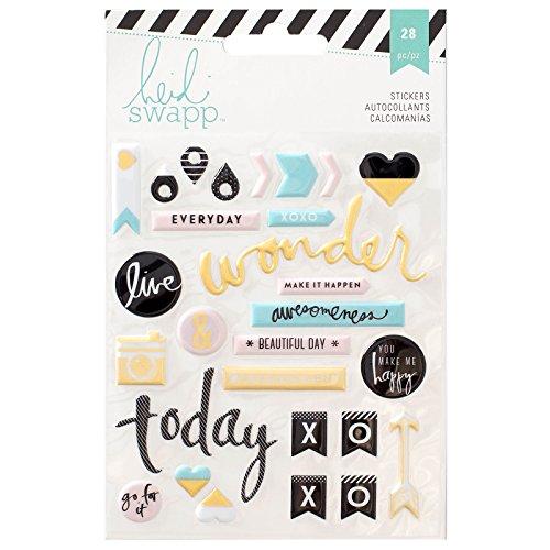 American Crafts Heidi Swapp 10268595 sjabloon voor Memory Planer 'Puffy Sticker, acryl, meerkleurig