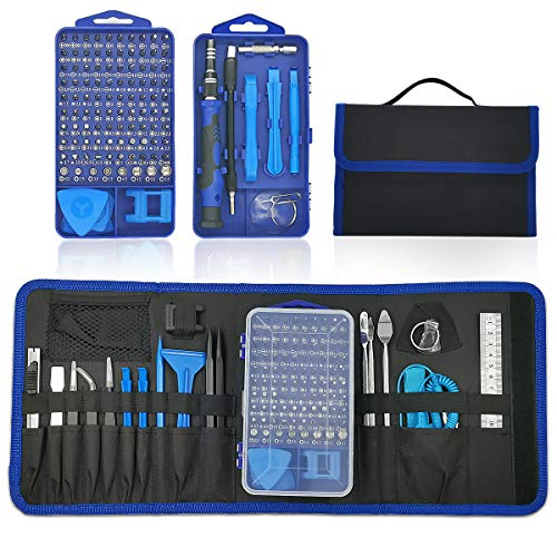 Jaronx 134 in 1 Precision Screwdriver Set with 98 Bits,Professional Screwdriver Kit Electronics Repair Tool Kit with Portable Bag for Smart Phone,iPad,Tablet,PC,Watch,XBOX,Game Controller,Camera,Drone