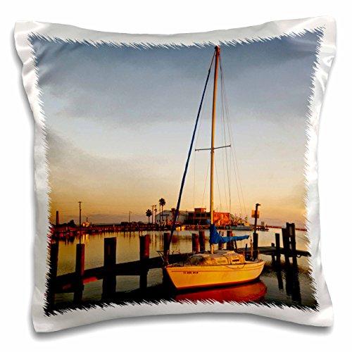 3dRose PC 146628_ 1Segelboot, Rockport, Texas Harbor at Sunset, Use us44ldi0484Larry Ditto Kissen Fall, 40,6x 40,6cm